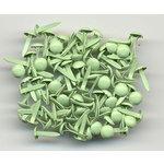 Bazzill Basics - Mini Brads - 5mm - Apple Green, CLEARANCE