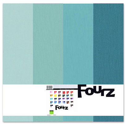 Bazzill - Fourz Multi-Packs - 12 x 12 - Aqua