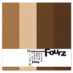 Bazzill - Fourz Multi-Packs - 12 x 12 - Chocolate