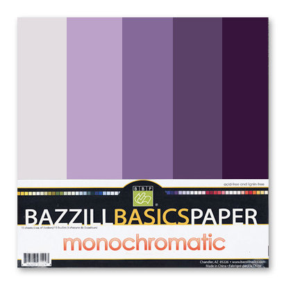 Bazzill Basics - Monochromatic Packs 12x12 - Purples