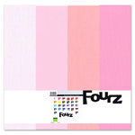 Bazzill - Fourz Multi-Packs - 12 x 12 - Pink