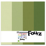 Bazzill - Fourz Multi-Packs - 12 x 12 - Spring Green