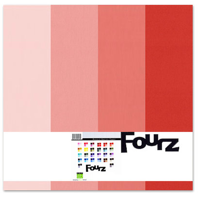 Bazzill - Fourz Multi-Packs - 12 x 12 - Strawberry