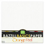 Bazzill Basics - Bulk Cardstock Pack - Orange Peel Texture - 25 Sheets - 12 x 12 White