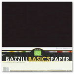 Bazzill - Bulk Cardstock Pack - 25 Sheets - 12 x 12 - Black
