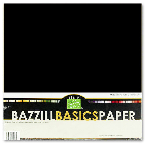Bazzill - Bulk Cardstock Pack - 25 Sheets - 12x12 - Raven