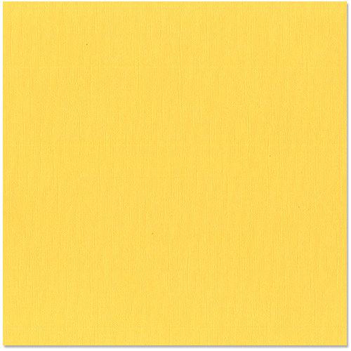 Bazzill - 12 x 12 Cardstock - Canvas Texture - Sunbeam
