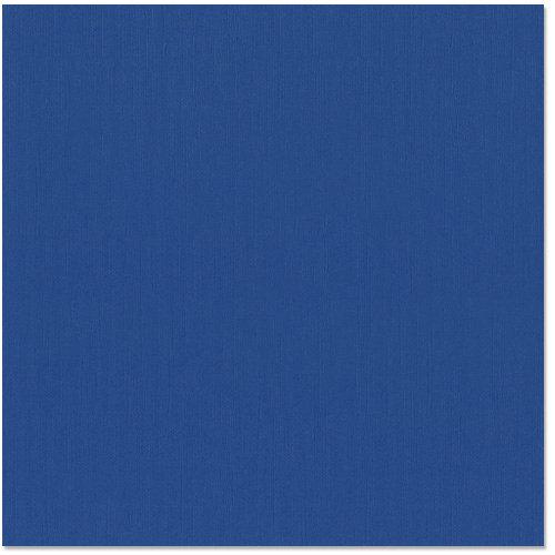 Bazzill - 12 x 12 Cardstock - Burlap Texture - Bazzill Blue