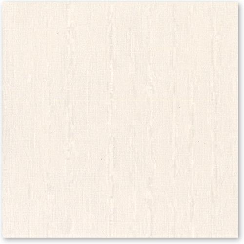 Bazzill - 12 x 12 Cardstock - Canvas Texture - Vanilla