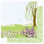 Best Creation Inc - A Walk in the Garden Collection - 12 x 12 Double Sided Glitter Paper - Tea Time