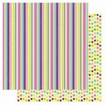 Best Creation Inc - A Walk in the Garden Collection - 12 x 12 Double Sided Glitter Paper - Spring Stripes