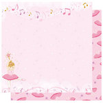 Best Creation Inc - Ballet Princess Collection - 12 x 12 Double Sided Glitter Paper - Love To Dance