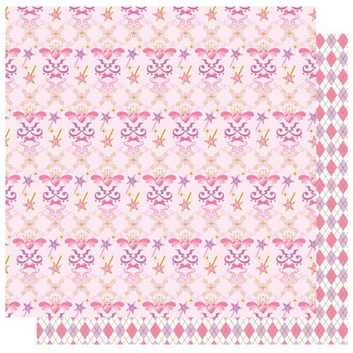 Best Creation Inc - Ballet Princess Collection - 12 x 12 Double Sided Glitter Paper - Ballet Princess