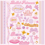 Best Creation Inc - Ballet Princess Collection - Glittered Cardstock Stickers - Element