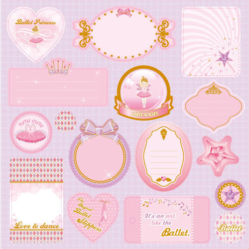 Best Creation Inc - Ballet Princess Collection - Expressions - Die Cut Chipboard Pieces
