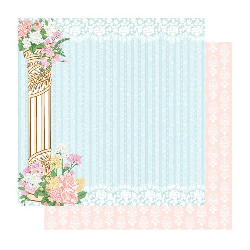 Best Creation Inc - Blossoming Time Collection - 12 x 12 Double Sided Glitter Paper - Silence