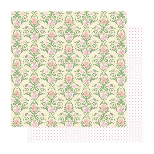 Best Creation Inc - Blossoming Time Collection - 12 x 12 Double Sided Glitter Paper - Grows