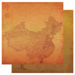 Best Creation Inc - China Collection - 12 x 12 Double Sided Glitter Paper - China