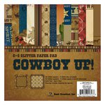 Best Creation Inc - Cowboy Collection - 6 x 6 Glittered Paper Pad