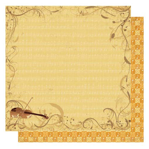 Best Creation Inc - Classical Music Collection - 12 x 12 Glittered Paper - Violinist