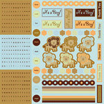 Best Creation Inc - Safari Boy Collection - Cardstock Stickers - Combo
