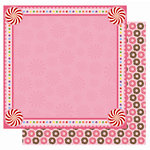 Best Creation Inc - Candy Shop Collection - 12 x 12 Double Sided Glitter Paper - Lollipop Fun