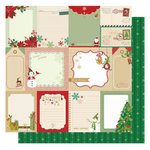 Best Creation Inc - Christmas Wishes Collection - 12 x 12 Glittered Paper - Christmas Journal