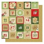 Best Creation Inc - Christmas Wishes Collection - 12 x 12 Glittered Paper - Christmas Countdown