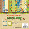 Best Creation Inc - Dinosaur Collection - 6 x 6 Glittered Paper Pad