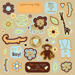 Best Creation Inc - Safari Boy Collection - Die Cut Chipboard Pieces