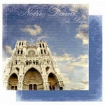Best Creation Inc - Europe Collection - 12 x 12 Double Sided Glitter Paper - Notre Dame de Paris
