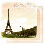 Best Creation Inc - Europe Collection - 12 x 12 Double Sided Glitter Paper - Eiffel Tower