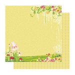 Best Creation Inc - Fairy Collection - 12 x 12 Double Sided Glitter Paper - Fairyland Left