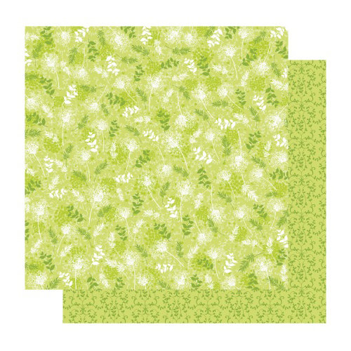 Best Creation Inc - Fairy Collection - 12 x 12 Double Sided Glitter Paper - Fairy Leaf