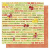 Best Creation Inc - Farm Life Collection - 12 x 12 Double Sided Glitter Paper - Farm Words