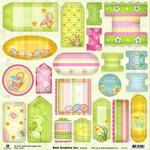 Best Creation Inc - Easter Collection - 12 x 12 Embossed Die Cut Tag and Tab - Easter