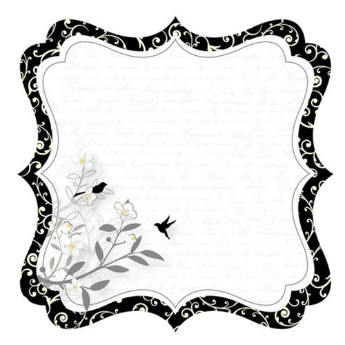 Best Creation Inc - Mr. and Mrs. Collection - 12 x 12 Die Cut Glitter Paper - Our Story