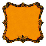 Best Creation Inc - Haunted House Collection - Halloween - 12 x 12 Die Cut Glitter Paper - Jack O Lantern, CLEARANCE