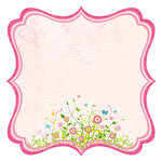 Best Creation Inc - Bella Collection - 12 x 12 Die Cut Glitter Paper - Bella Journal Pink