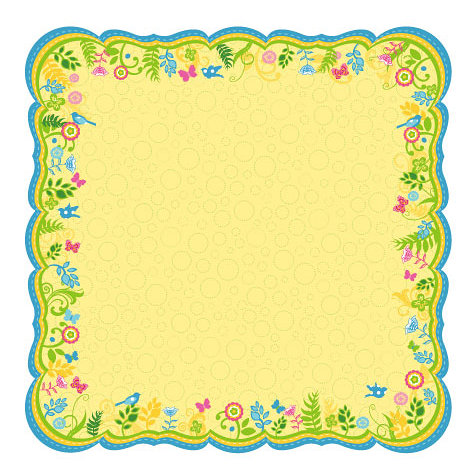 Best Creation Inc - Bella Collection - 12 x 12 Die Cut Glitter Paper - Bella Journal Yellow