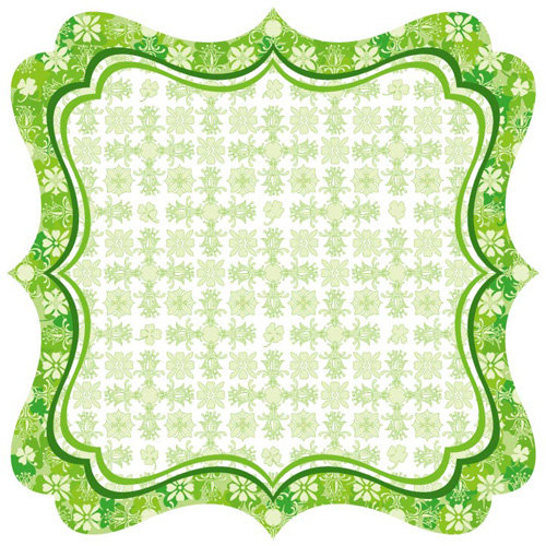 Best Creation Inc - St. Patrick Collection - 12 x 12 Die Cut Glitter Paper - Celtic Border