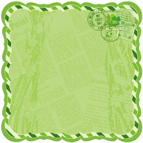Best Creation Inc - St. Patrick Collection - 12 x 12 Die Cut Glitter Paper - Tale of Fortune