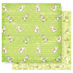 Best Creation Inc - Easter Collection - 12 x 12 Double Sided Glitter Paper - Easter Bunny