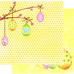 Best Creation Inc - Easter Moment Collection - 12 x 12 Double Sided Glitter Paper - Dreamy Easter
