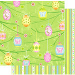 Best Creation Inc - Easter Moment Collection - 12 x 12 Double Sided Glitter Paper - Playful Easter