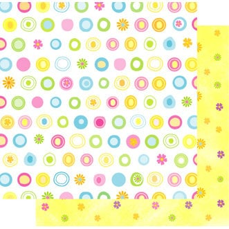 Best Creation Inc - Easter Moment Collection - 12 x 12 Double Sided Glitter Paper - Spring Flower