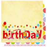 Best Creation Inc - Make a Wish Collection - 12 x 12 Double Sided Glitter Paper - Birthday Letters