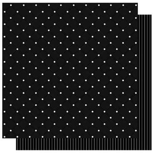 Best Creation Inc - Mr. and Mrs. Collection - 12 x 12 Double Sided Glitter Paper - Mr. and Mrs. Dots
