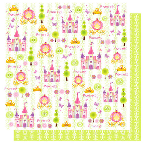 Best Creation Inc - Once Upon A Dream Collection - 12 x 12 Double Sided Glitter Paper - Fairy Tales