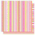 Best Creation Inc - Once Upon A Dream Collection - 12 x 12 Double Sided Glitter Paper - Lovely Stripes, CLEARANCE